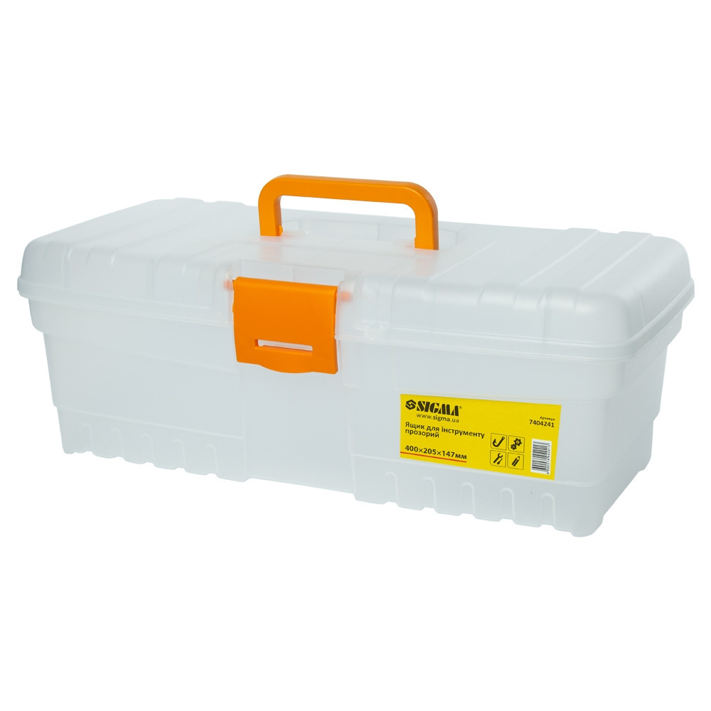 Ящик для инструмента (прозрачный) 400×205×147мм SIGMA (7404241)