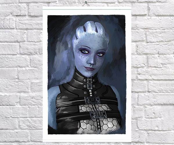 Постер плакат BEGEMOT Игра ME Mass Effect Лиара Т'Сони Liara T'Soni 40x61 см (1121437)