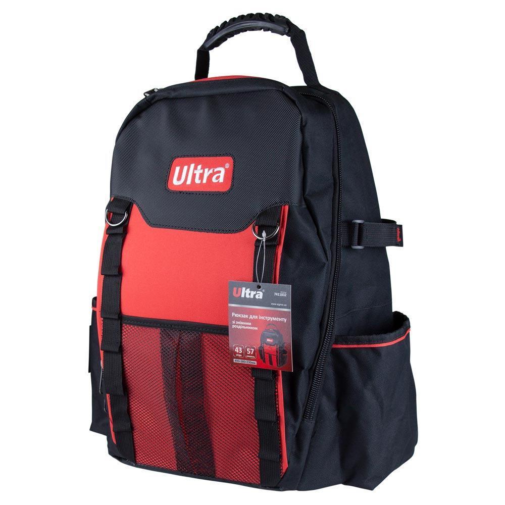 Рюкзак для инструмента 6 карманов 490×380×230мм 43л ULTRA (7411832)