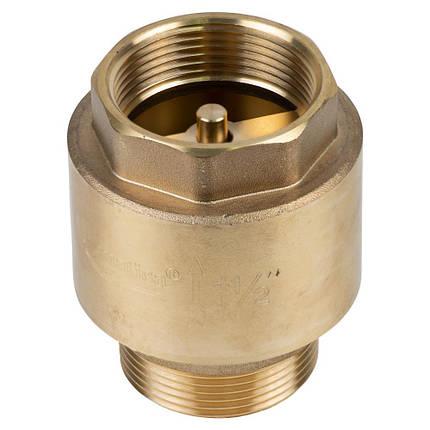 """Клапан обратный M1 1/2""""×F1 1/2"""" (латунь) euro 680г AQUATICA (779659), фото 2"""