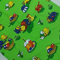 Готовое вафельное пасхальное полотенце с утятами, крашенками, пасками 42х75 см, фото 1