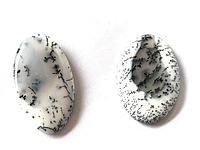 Кабошон из натурального природного камня Агат Дендритовый овал (цена за грамм)