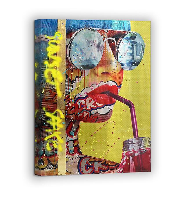 Картина на холсте BEGEMOT Pop-Art Девушки Галерейная натяжка 30x45 см (1110012)
