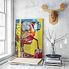 Картина на холсте BEGEMOT Pop-Art Девушки Галерейная натяжка 30x45 см (1110012), фото 3