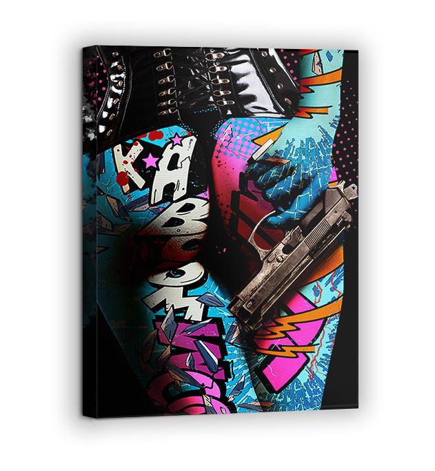 Картина на холсте BEGEMOT Pop-Art Девушки Галерейная натяжка 30x45 см (1110014)