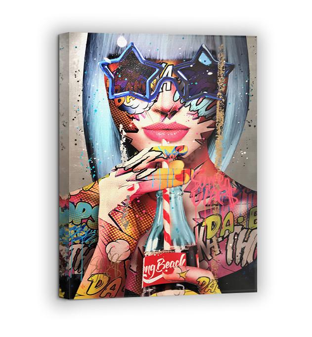 Картина на холсте BEGEMOT Pop-Art Девушки Галерейная натяжка 30x45 см (1110018)