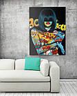 Картина на холсте BEGEMOT Pop-Art Девушки Галерейная натяжка 30x45 см (1110019), фото 2