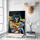 Картина на холсте BEGEMOT Pop-Art Девушки Галерейная натяжка 30x45 см (1110019), фото 3