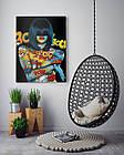 Картина на холсте BEGEMOT Pop-Art Девушки Галерейная натяжка 30x45 см (1110019), фото 4