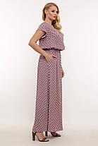 Длинное женское платье большого размера в горошек, размер 52-58, фото 2