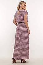 Длинное женское платье большого размера в горошек, размер 52-58, фото 3