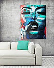Картина на холсте BEGEMOT Pop-Art Девушки Галерейная натяжка 30x45 см (1110030), фото 2