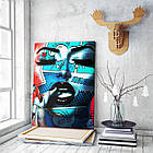 Картина на холсте BEGEMOT Pop-Art Девушки Галерейная натяжка 30x45 см (1110030), фото 3