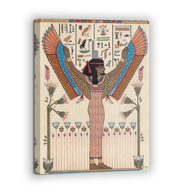 Картина на холсте BEGEMOT Древнеегипетский богиня Исида Галерейная натяжка 40x60 см (1110062)