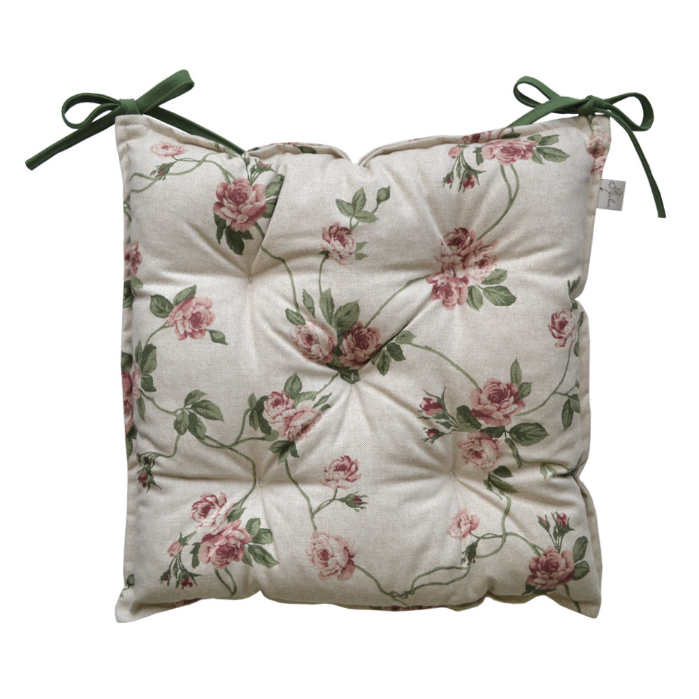 Подушка на стул Глория цветы