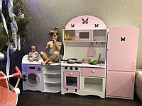 Кухня + холодильник + стиральная машинка из безопасных материалов