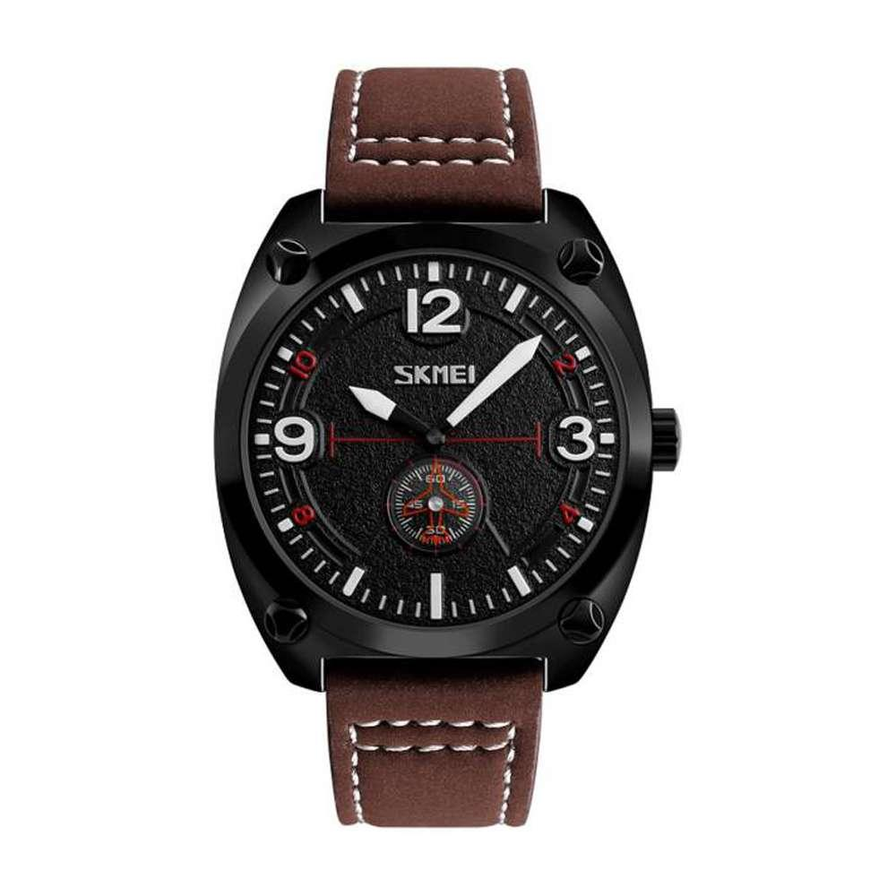 Skmei 9155 коричневые мужские классические часы