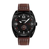 Skmei 9155 коричневые мужские классические часы, фото 1