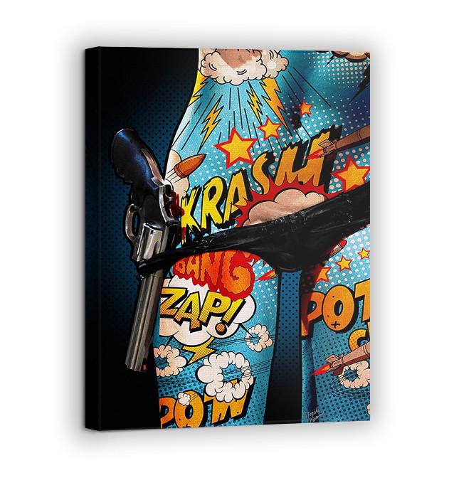 Картина на холсте BEGEMOT Pop-Art Девушки Галерейная натяжка 40x60 см (1110069)