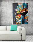 Картина на холсте BEGEMOT Pop-Art Девушки Галерейная натяжка 40x60 см (1110069), фото 2