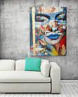 Картина на холсте BEGEMOT Pop-Art Девушки Галерейная натяжка 40x60 см (1110072), фото 2