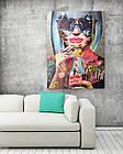 Картина на холсте BEGEMOT Pop-Art Девушки Галерейная натяжка 40x60 см (1110077), фото 2
