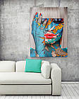 Картина на холсте BEGEMOT Pop-Art Девушки Галерейная натяжка 40x60 см (1110083), фото 2