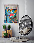 Картина на холсте BEGEMOT Pop-Art Девушки Галерейная натяжка 40x60 см (1110083), фото 4
