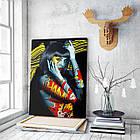 Картина на холсте BEGEMOT Pop-Art Девушки Галерейная натяжка 40x60 см (1110085), фото 3
