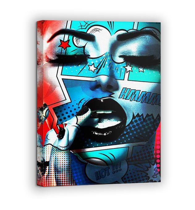Картина на холсте BEGEMOT Pop-Art Девушки Галерейная натяжка 40x60 см (1110089)