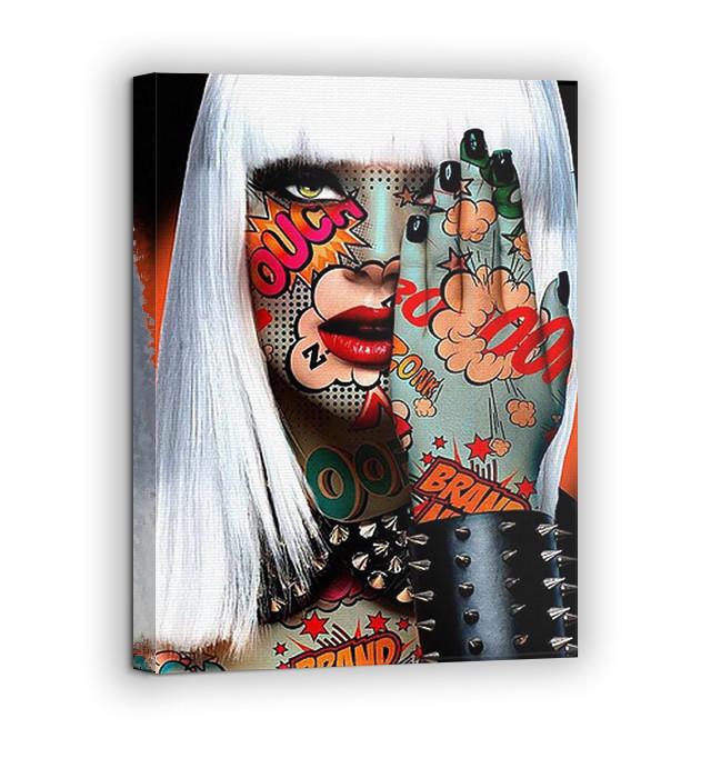 Картина на холсте BEGEMOT Pop-Art Девушки Галерейная натяжка 40x60 см (1110090)