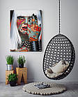 Картина на холсте BEGEMOT Pop-Art Девушки Галерейная натяжка 40x60 см (1110090), фото 4