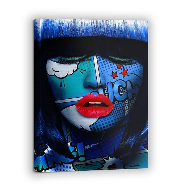 Картина на холсте BEGEMOT Pop-Art Девушки Галерейная натяжка 40x60 см (1110092)