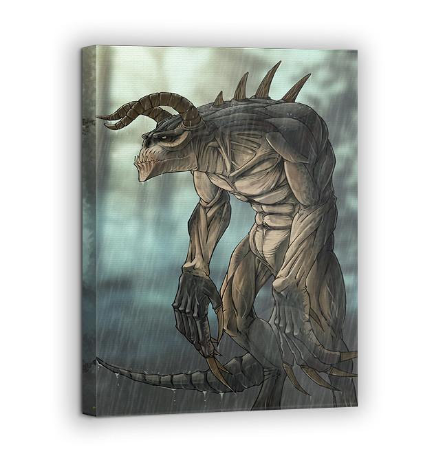 Картина на холсте BEGEMOT Fallout Галерейная натяжка 40x60 см (1110108)
