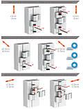Петля дверная GU 67 мм для алюминия (антрацит) RAL 7016, фото 3