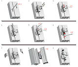 Петля дверная GU 67 мм для алюминия (антрацит) RAL 7016, фото 4