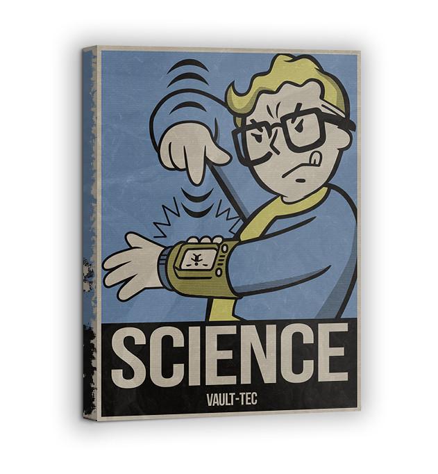 Картина на холсте BEGEMOT Fallout Галерейная натяжка 40x60 см (1110114)