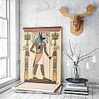 Картина на холсте BEGEMOT Древнеегипетский бог Анубис Галерейная натяжка 60х89 см (1110120), фото 3