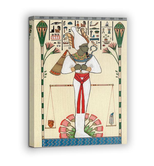 Картина на холсте BEGEMOT Древнеегипетский бог Осирис Галерейная натяжка 60х89 см (1110122)
