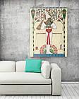 Картина на холсте BEGEMOT Древнеегипетский бог Осирис Галерейная натяжка 60х89 см (1110122), фото 2