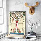 Картина на холсте BEGEMOT Древнеегипетский бог Осирис Галерейная натяжка 60х89 см (1110122), фото 3