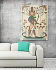 Картина на холсте BEGEMOT Древнеегипетский бог Себек Галерейная натяжка 60х89 см (1110125), фото 2
