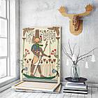 Картина на холсте BEGEMOT Древнеегипетский бог Себек Галерейная натяжка 60х89 см (1110125), фото 3