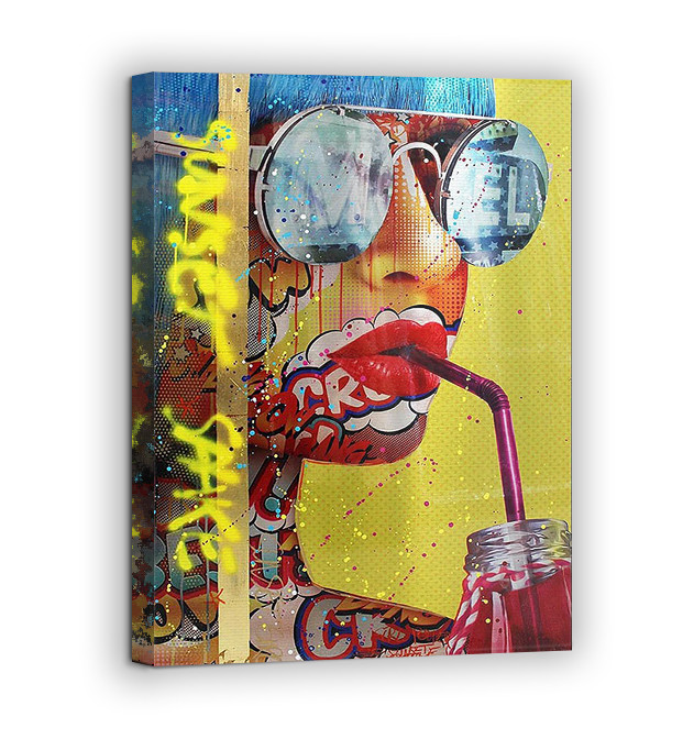 Картина на холсте BEGEMOT Pop-Art Девушки Галерейная натяжка 60х89 см (1110130)