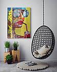 Картина на холсте BEGEMOT Pop-Art Девушки Галерейная натяжка 60х89 см (1110130), фото 4