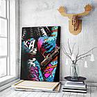 Картина на холсте BEGEMOT Pop-Art Девушки Галерейная натяжка 60х89 см (1110132), фото 3