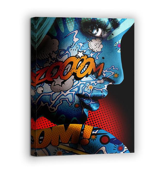 Картина на холсте BEGEMOT Pop-Art Девушки Галерейная натяжка 60х89 см (1110134)