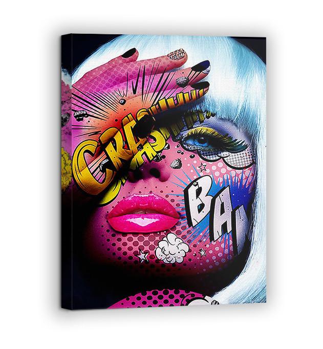 Картина на холсте BEGEMOT Pop-Art Девушки Галерейная натяжка 60х89 см (1110135)