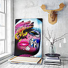 Картина на холсте BEGEMOT Pop-Art Девушки Галерейная натяжка 60х89 см (1110135), фото 3