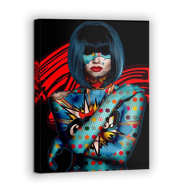 Картина на холсте BEGEMOT Pop-Art Девушки Галерейная натяжка 60х89 см (1110138)